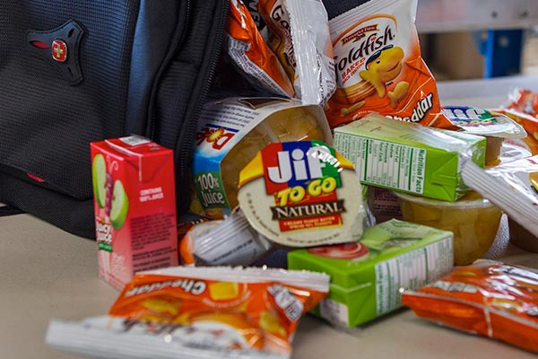 items to feed kids in backpacks